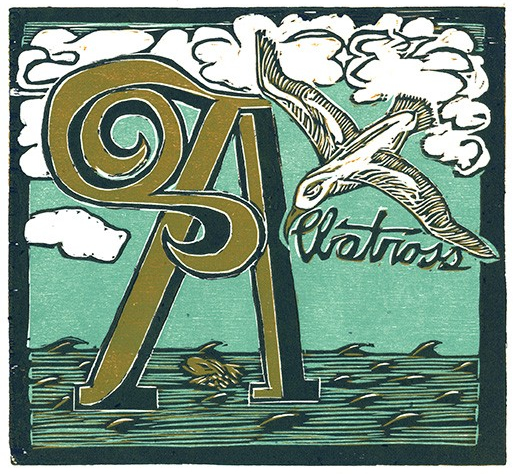 A is for Albatross by Chick Family Ink on Etsy