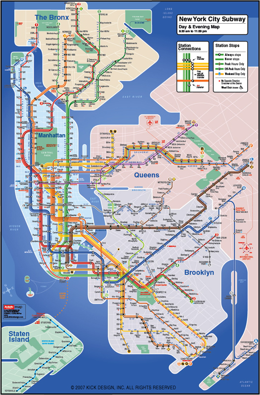 KickMap subway map