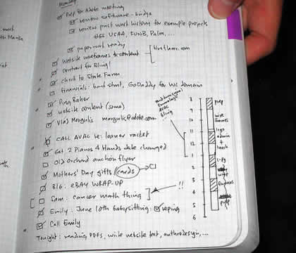 Paper-based time management with a Miquelrius notebook