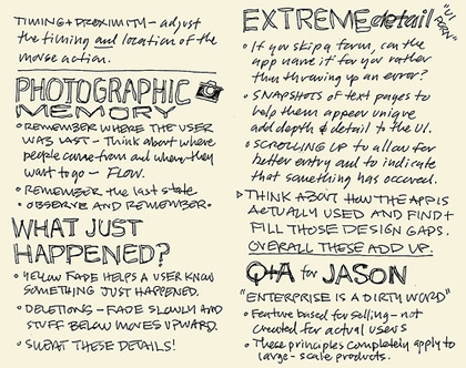 Sketch notes by Mike Rohde
