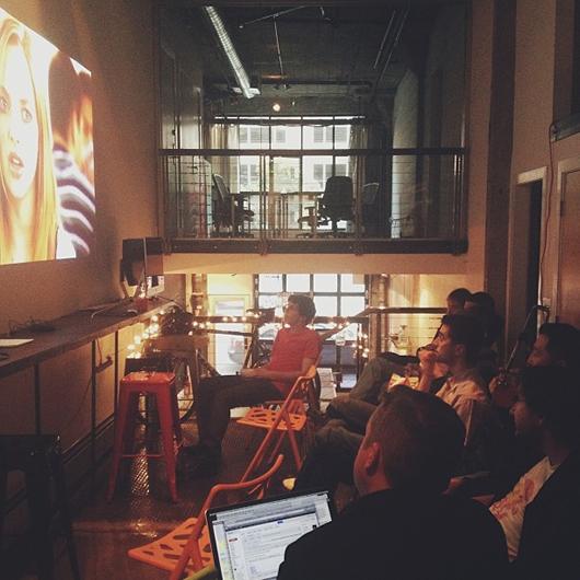 'The manliest of engineering men at @wanelo watching Mean Girls' by @varshavskaya