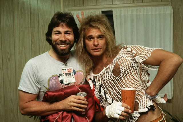 Steve Wozniak with David Lee Roth